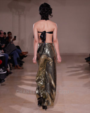 Gold Sequin Embellished Trouser