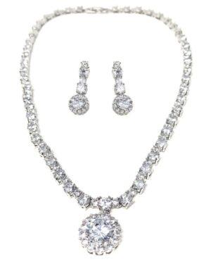 Cubic Zirconia Collection – Exquisite Sparkle Necklace Set – Cznk93