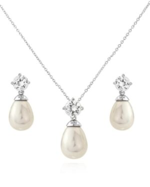 Cubic Zirconia Collection – Timeless Elegance Necklace Set- (Cznk74Aa) Set
