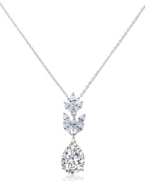 Cubic Zirconia Collection – Starlet Chic Necklace – Silver – Cznk86