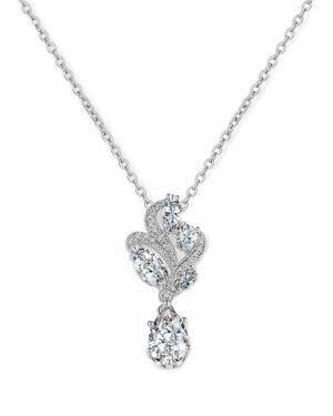 Cubic Zirconia Collection – Bejewelled Necklace – Silver