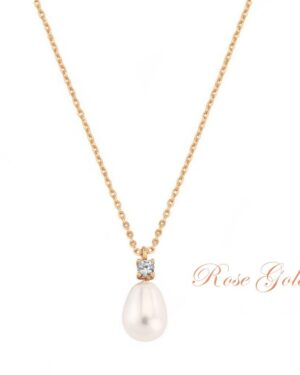 Cubic Zirconia Collection – Vintage Heirloom Necklace – Cznk72 Rose Gold