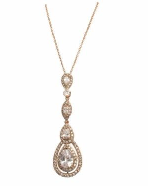 Cubic Zirconia Collection – Starlet Sparkle Necklace – Cznk75 Rose Gold
