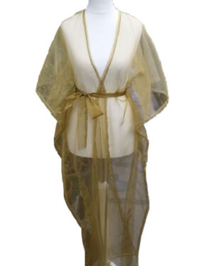 Beaufille Bandeau Organza Maxi Dress Gold